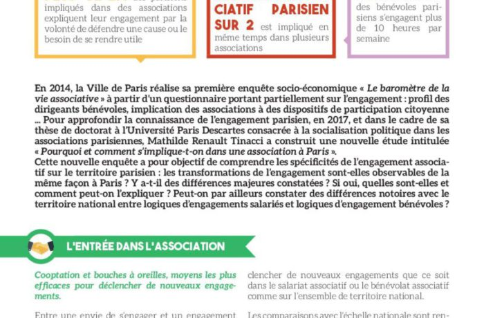 Les ressorts de l'engagement associatif parisien
