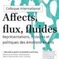 """<strong>Les 10-11-12 avril> – Organisation et participation de Clélia Barbut au colloque """"Affects, flux, fluides"""""""