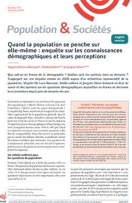 """""""Quand la population se penche sur elle-même: enquête sur les connaissances démographiques et leurs perceptions"""""""