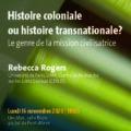 <strong>16 novembre 2020 > – Intervention de Rebecca Rogers à l'Université de Genève