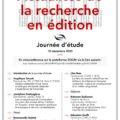 """<strong>10 décembre 2020 > – Intervention d'Emmanuelle Guittet à la JE """"Actualités de la recherche sur l'édition"""""""